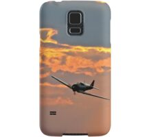 Japanese Zero Fighter Plane at Sunset Samsung Galaxy Case/Skin