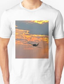 Japanese Zero Fighter Plane at Sunset Unisex T-Shirt