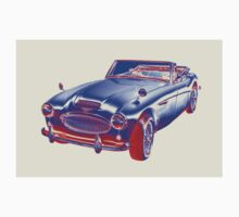 Austin Healey 300 Sports Car Pop Image Baby Tee