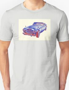 Austin Healey 300 Sports Car Pop Image T-Shirt