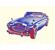 Austin Healey 300 Sports Car Pop Image Photographic Print