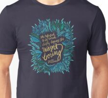 Zelda Fitzgerald – Blue & Gold on Charcoal Unisex T-Shirt
