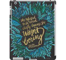 Zelda Fitzgerald – Blue & Gold on Charcoal iPad Case/Skin