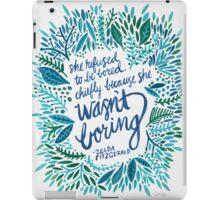 Zelda Fitzgerald – Blue on White iPad Case/Skin