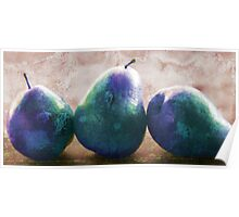 blue stone pears Poster