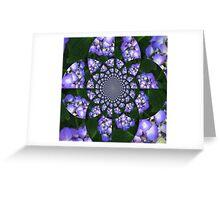 Hydrangea Kaleidoscope Greeting Card