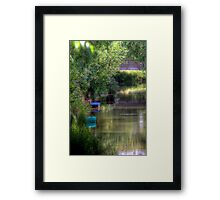 Boats in the Canal - Oxford, Oxfordshire, United Kingdom Framed Print