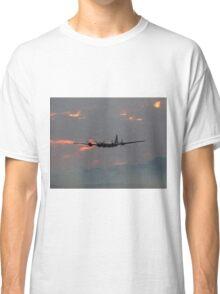 B-29 Bomber Plane flying at Sunset Classic T-Shirt