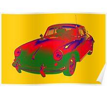 1962  Porsche 356 E Pop Art Poster