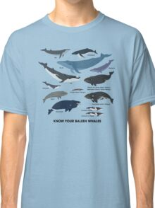 Know Your Baleen Whales Classic T-Shirt