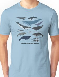 Know Your Baleen Whales Unisex T-Shirt