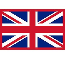 UK Union Jack ensign flag - Authentic version (Duvet, Print on Red background)  Photographic Print