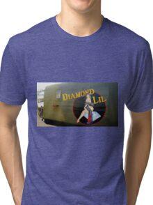Diamond Lil - Bomber Aircraft Art Tri-blend T-Shirt