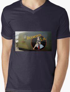 Diamond Lil - Bomber Aircraft Art Mens V-Neck T-Shirt