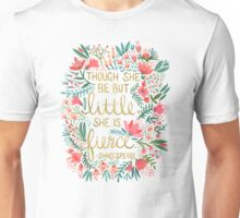 Little & Fierce on Charcoal Unisex T-Shirt