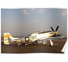 P-51 Mustang Fighter Plane Poster
