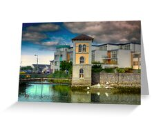 Canal in Galway - County Clare, Ireland Greeting Card