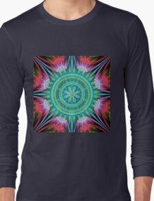 Beautiful morning, fractal abstract pattern design Long Sleeve T-Shirt
