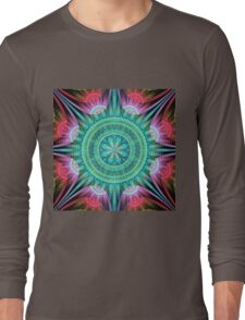 Beautiful morning, fractal abstract pattern design Long Sleeve T-Shirt