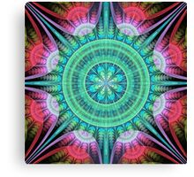Beautiful morning, fractal abstract pattern design Canvas Print