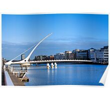 Samuel Beckett Bridge - Dublin, Ireland Poster