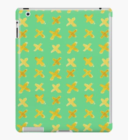 Yellow cross on green iPad Case/Skin