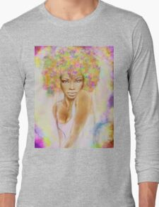 The girl with new hair style Long Sleeve T-Shirt