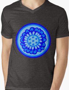 Bluest of Blue Flowers Mens V-Neck T-Shirt