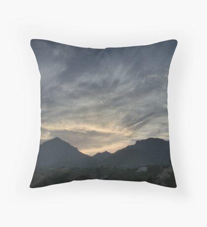 La Nucia, Spain - Sunset HDR Throw Pillow