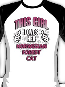 This girl loves her Norwegian Forest Cat T-Shirt