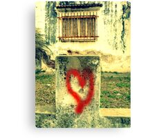 Love is all around! Canvas Print