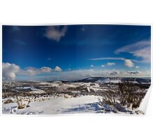 Snowy Scottish landscape Poster