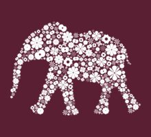Flower Elephant: White by Bianca Stanton