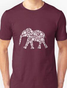 Flower Elephant: White T-Shirt