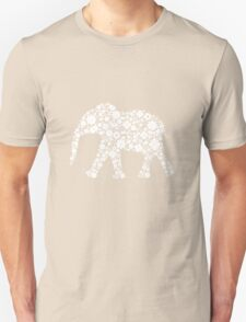 Flower Elephant: White T-Shirt