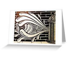 Watered Down Graffiti  Greeting Card