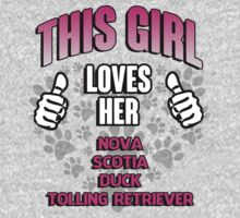 This girl loves her Nova Scotia Duck Tolling Retriever T-Shirt