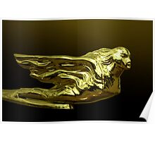 """1940 Cadillac """"Winged Woman"""" Hood Ornament Poster"""