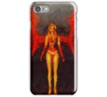 Red Fairy Queen by Sarah Kirk iPhone Case/Skin