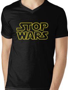 STOP WARS Mens V-Neck T-Shirt