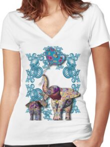 Mother&Child Women's Fitted V-Neck T-Shirt