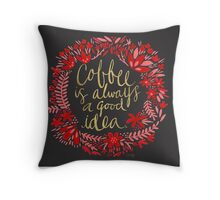 Coffee on Charcoal Throw Pillow