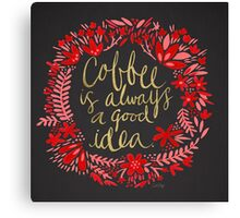 Coffee on Charcoal Canvas Print