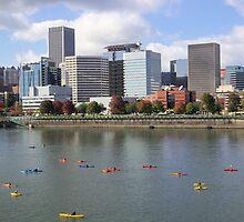 Willamette River Portland, Oregon  by Don Siebel