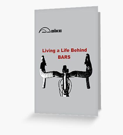 Cycling T Shirt - Life Behind Bars Greeting Card
