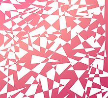 Jumble of Triangles in Red by pASob-dESIGN