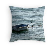 Alone On The Sea Throw Pillow