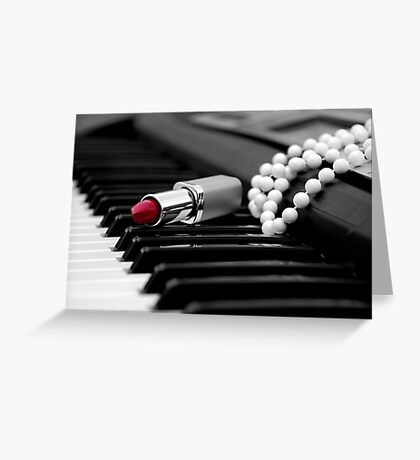 Piano Passion Greeting Card