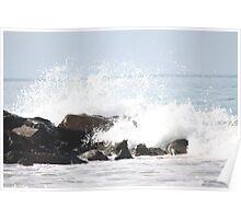 Waves crash : 4 Poster