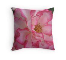 Pink Eye Liner Rose Throw Pillow